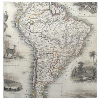 Vintage Map of South America (1850) Cloth Napkins