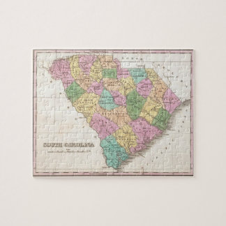 Vintage Map of South Carolina (1827) Jigsaw Puzzle