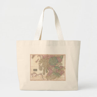 Vintage Map of Southern Scotland (1818) Jumbo Tote Bag