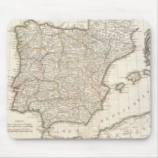 Vintage Map of Spain (1775) Mouse Pad