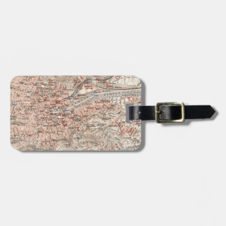 Vintage Map of Stuttgart Germany (1909) Luggage Tag