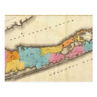 Vintage Map of Suffolk New York (1829) Postcard