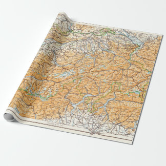 Vintage Map of Switzerland