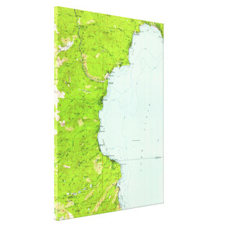 Vintage Map of Tahoe California (1955) Canvas Print