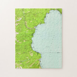 Vintage Map of Tahoe California (1955) Jigsaw Puzzle