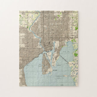 Vintage Map of Tampa Florida (1944) Jigsaw Puzzle