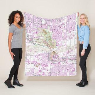 Vintage Map of Tempe Arizona (1952) Fleece Blanket