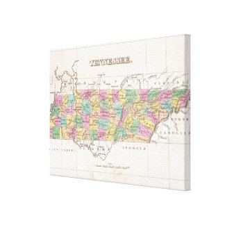 Vintage Map of Tennessee (1827) Stretched Canvas Print