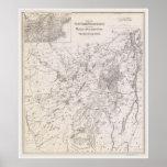 Vintage Map of the Adirondacks New York Poster