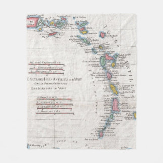 Vintage Map of The Antilles Islands (1780) Fleece Blanket