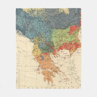 Vintage Map of The Balkans (1918) Fleece Blanket