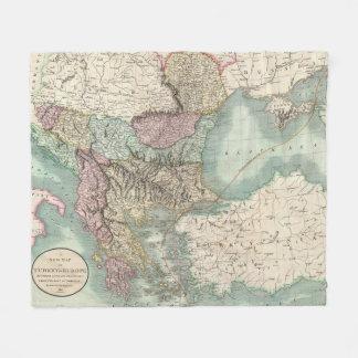 Vintage Map of The Balkans and Turkey (1801) Fleece Blanket