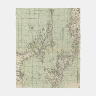 Vintage Map of The Caribbean (1774) Fleece Blanket