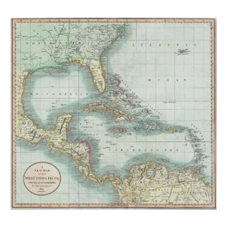 Vintage Map of The Caribbean (1803) Poster