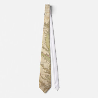 Vintage Map of The Chesapeake Bay (1840) Tie