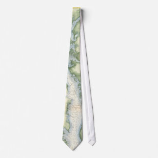 Vintage Map of the Chesapeake Bay Tie