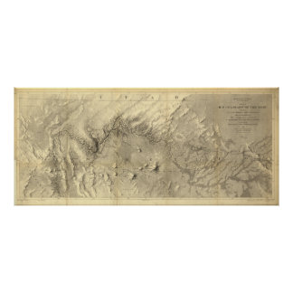 Vintage Map of The Colorado River (1858) Poster