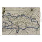 Vintage Map of The Dominican Republic (1750) Card