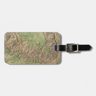 Vintage Map of The Grand Canyon (1926) Luggage Tag