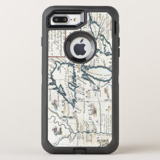Vintage Map of the Great Lakes, 17th Century OtterBox Defender iPhone 8 Plus/7 Plus Case