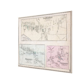 Vintage Map of The Hamptons (1873) Canvas Print