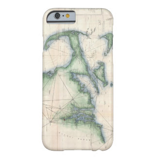 Vintage Map of the Massachusetts Coastline Barely There iPhone 6 Case