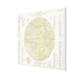Vintage Map of The Moon (1880) Canvas Print