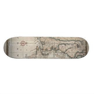 Vintage Map of The New England Coast (1747) Skateboard Decks