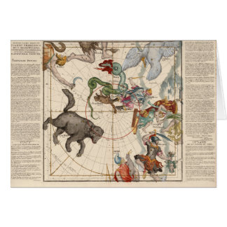 Vintage Map of the North Pole Card