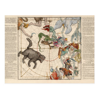 Vintage Map of the North Pole Postcard