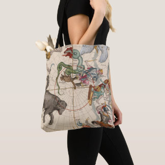 Vintage Map of the North Pole Tote Bag