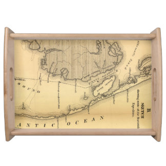 Vintage Map of The Outer Banks (1862) Serving Tray