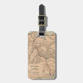 Vintage Map of The Panama Canal (1885) Luggage Tag
