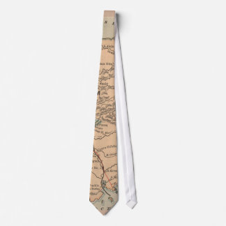 Vintage Map of The Panama Canal (1885) Tie