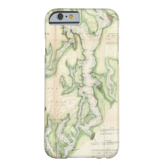 Vintage Map of The Puget Sound (1867) Barely There iPhone 6 Case