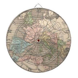 Vintage Map of The Roman Empire 1838 Dartboard With Darts
