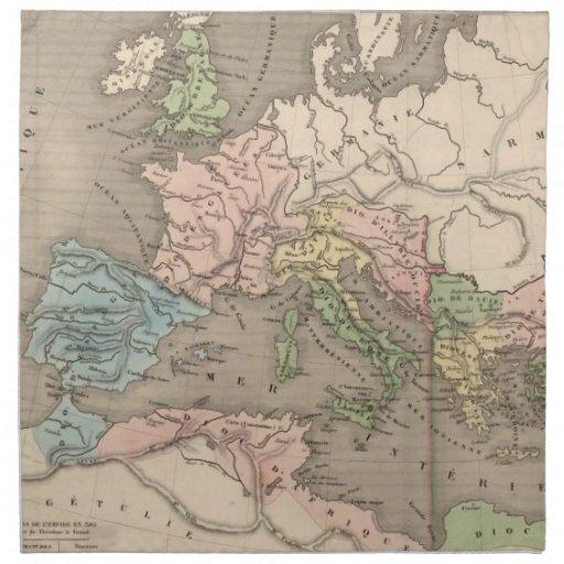 Vintage Map of The Roman Empire (1838) Napkins