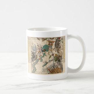Vintage Map of the South Pole Coffee Mug