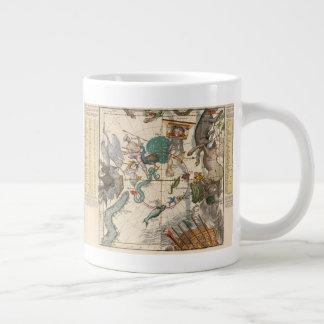 Vintage Map of the South Pole Large Coffee Mug
