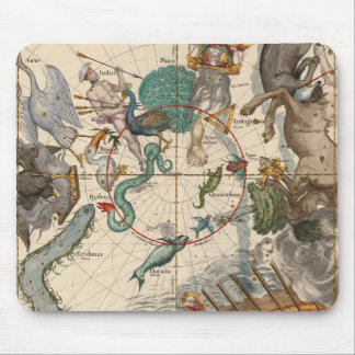 Vintage Map of the South Pole Mouse Pad