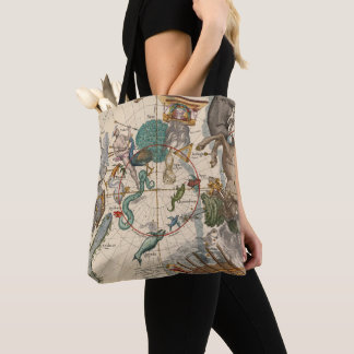 Vintage Map of the South Pole Tote Bag