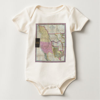 Vintage Map of The Western United States (1846) Baby Bodysuit