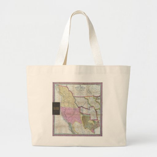 Vintage Map of The Western United States (1846) Canvas Bags