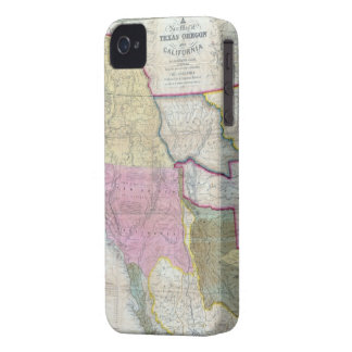 Vintage Map of The Western United States (1846) iPhone 4 Case-Mate Case