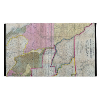 Vintage Map of The Western United States (1846) iPad Case