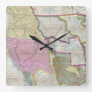 Vintage Map of The Western United States (1846) Clock