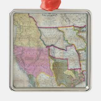 Vintage Map of The Western United States (1846) Christmas Ornament