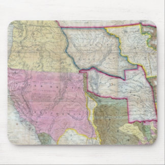 Vintage Map of The Western United States (1846) Mouse Pads