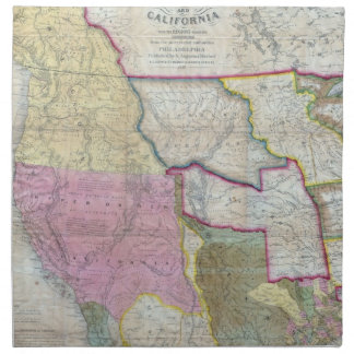 Vintage Map of The Western United States 1846 Cloth Napkin