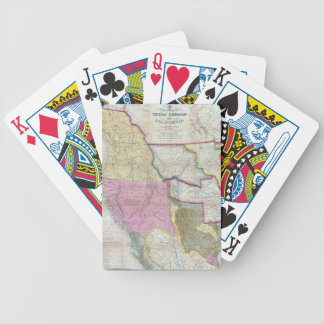 Vintage Map of The Western United States (1846) Card Decks